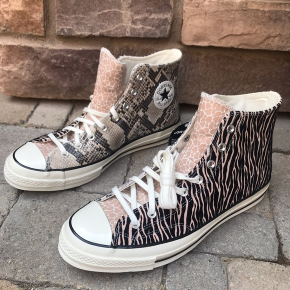 Converse Other - Converse Chuck 70 High Top Animal Zebra Leopard